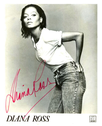 Diana Ross w/reproduction signature archival quality,  003