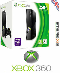 Microsoft Xbox 360 Elite Slim Line Black 250GB UK PAL Console