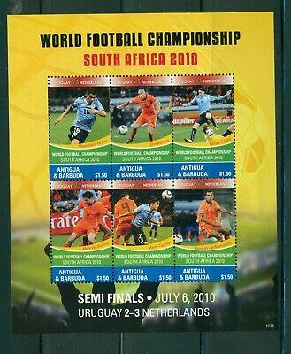 Antigua #3110 (2010 World Cup Semi-Finals sheet)  VFMNH  CV $7.75