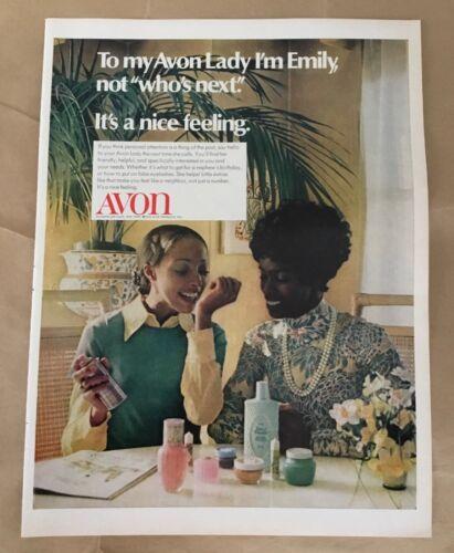 Avon makeup print ad 1972 vintage 1970s retro art cosmetics sales representative
