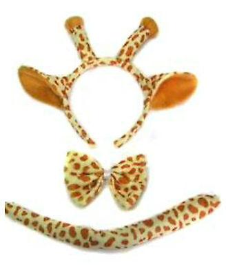 Giraffe Safari Zoo Fancy Dress Set Ears Tail Fancy Dress Dressing Up Costume ()