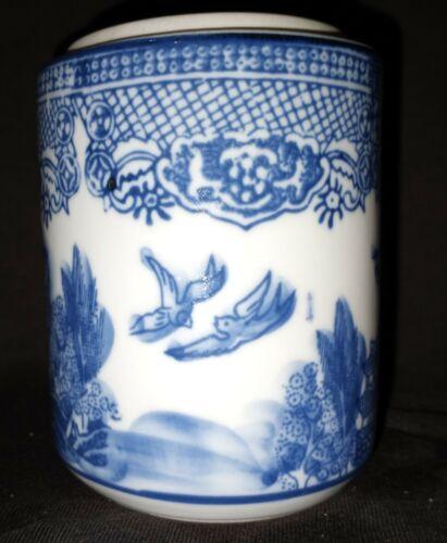 Blue Willow utensil holder