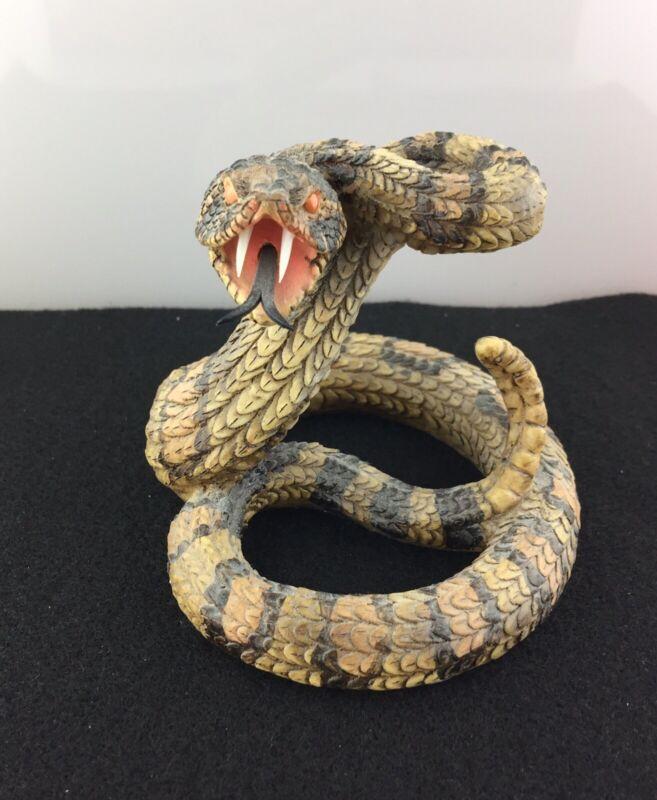 Lifelike Rattlesnake Resin Figurine Ready To Strike