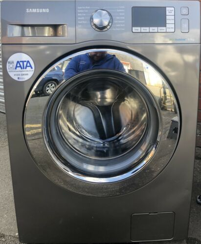 SAMUNG 8KG 1400 SPIN ECOBUBBLE SILVER WASHING MACHINE WF80F5E5U4X, WORKING ORDER