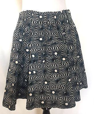 Free People Flared Skirt Blue Black White Sun Retail $88 Price $36 NWT