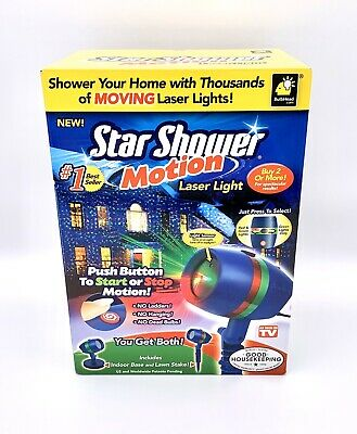 Bulb-Head Star Shower Laser Light Projector Christmas Lights Green & Green/Red
