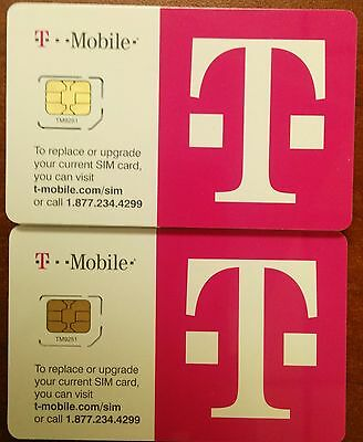 Lot Of 10 T-mobile 4g Lte Factory Micro Sim Card. Tmobile.