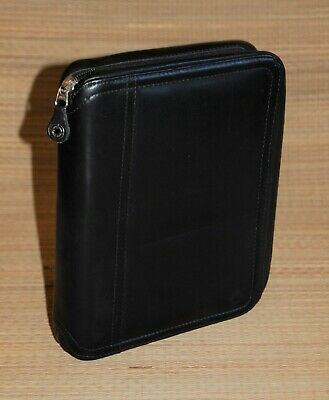 Franklin Covey Black Classic Planner Full Grain Leather 1.25 Rings Usa