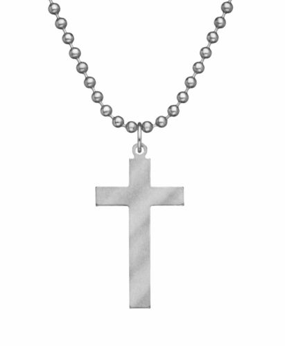 GI Jewelry USGI Christian Long Cross w/Chain - stainless steel