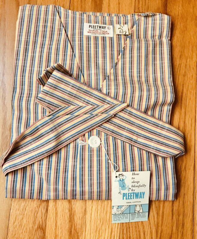 1950s  Vintage Pleetway Shaving Toga New NOS Tag Men's L Pajamas