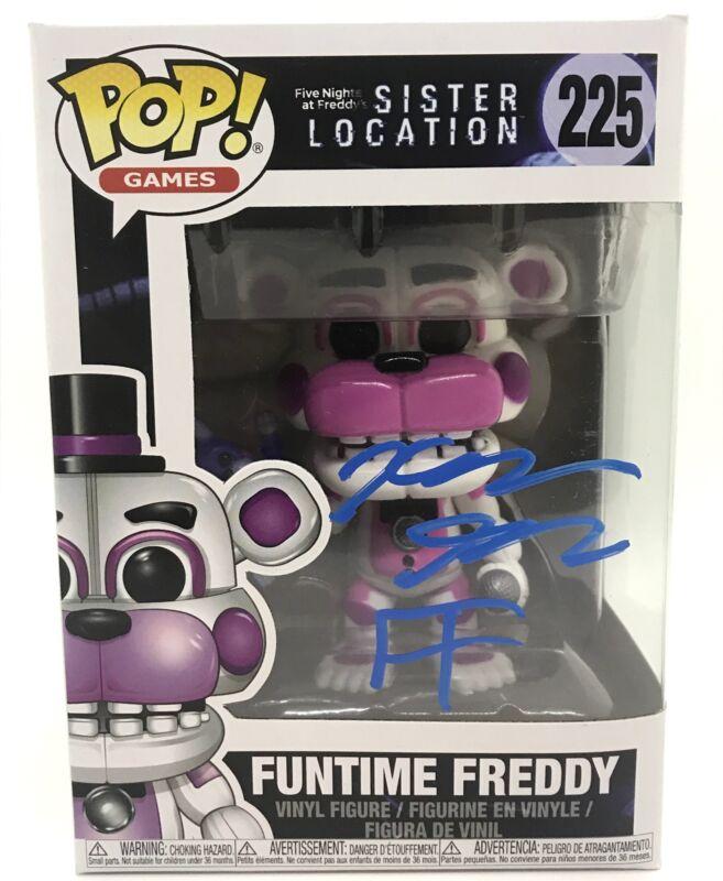 Kellen Goff Signed Funko Pop Five Nights at Funtime Freddy's Autograph COA 3