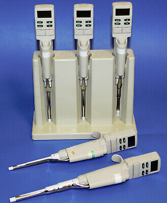 Lot Rainin Edp3 Electronic Digital Pipette Single Channel With Stand