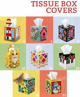Tissue Box Covers, Snowbabies Lighthouse Piano &More plastic canvas pattern book Box Plastic Canvas Pattern