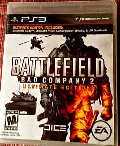 NEW! BATTLEFIELD BAD COMPANY 2-ULTIMATE EDITION(Sony Playstation 3, 2010) SEALED