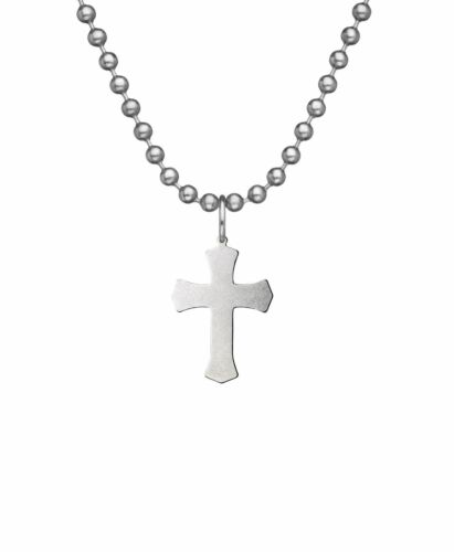 GI Jewelry USGI Christian Warrior (Crusader) Cross w/Chain - stainless steel