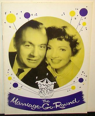 Souvenir Program for The Marriage-Go-Round, Charles Boyer Claudette Colbert 1958