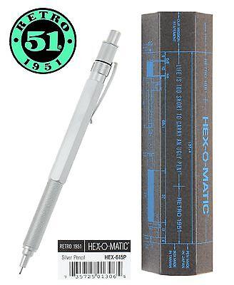 Retro 51 #HEX-615P / Hex-O-Matic .07mm Pencil in Silver