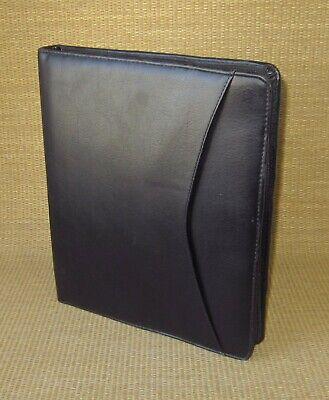 Monarchfolio Day-runnertimer Black Sim. Leather 1 Rings Zip Plannerbinder
