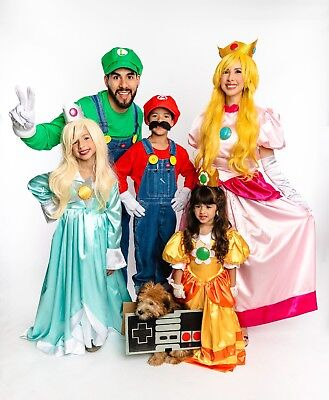 Mario Bros. Costume Gown Dress Girls Halloween ~Princess Rosalina~Child Size 14](Rosalina Halloween Costume)