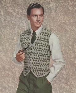Vintage Knitting Pattern Men's Waistcoat. Paisley/Fair Isle. 37 - 41 Inch Chest.