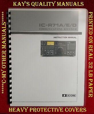 "w// 11/""x36/"" Schematics /& Protective Covers! Icom IC-R71 Service Manual"