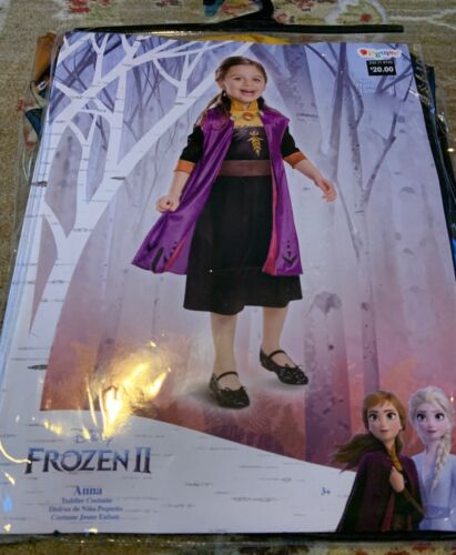 DISNEY FROZEN 2 ANNA TODDLER COSTUME-XSMALL (3T-4T)-NWT!