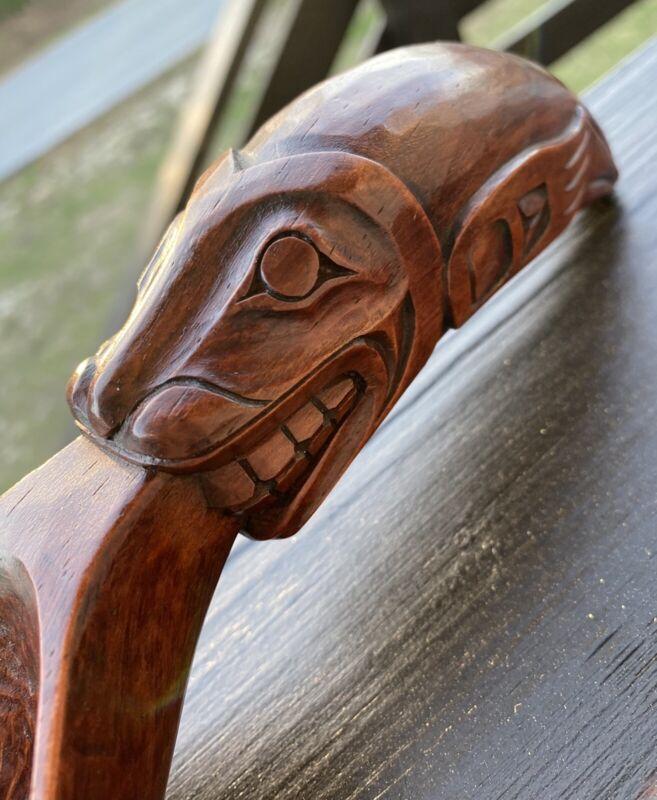 Northwest Coast Vintage Carved Seal Spoon by Artie George