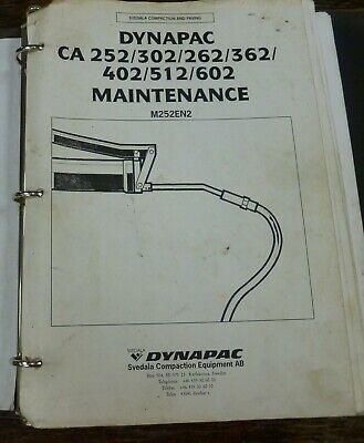 Dynapac Ca512 Ca602 Vibratory Smooth Drum Roller Shop Service Maintenance Manual