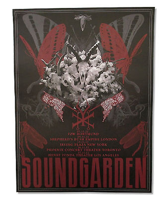 SOUNDGARDEN KING ANIMAL NOVEMBER 2012 TOUR CARDSTOCK WALL POSTER NEW OFFICIAL