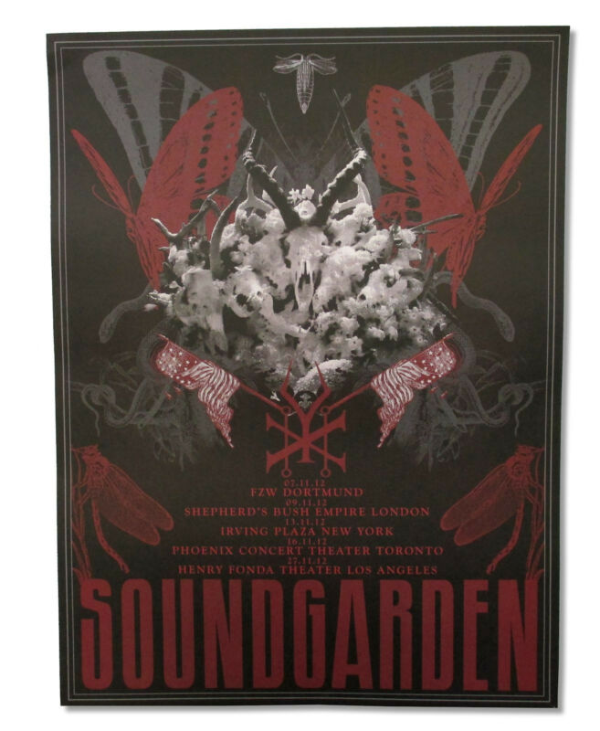 Soundgarden King Animal November 2012 Tour Cardstock Wall Poster New Official