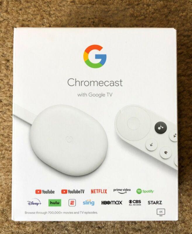 Chromecast with Google TV 4K HDR Media Streamer ~ Snow White