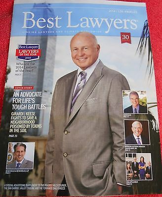 BEST LAWYERS 2014 LOS ANGELES PUBLICATION MAGAZINE