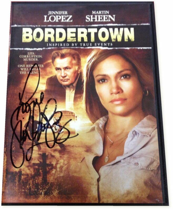 Jennifer Lopez Bordertown Autograph Signed DVD Signed on Plastic cover GA COA