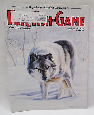 Fur Fish Game Magazine Feb. 1993 Wilderness Survival Alaska Life Style