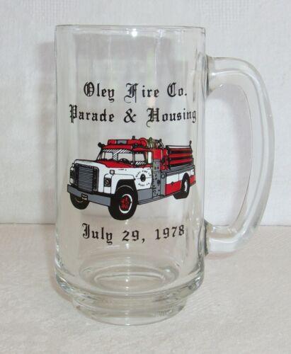 Vintage OLEY FIRE Co. Parade & Housing July 29, 1978 Beer Mug