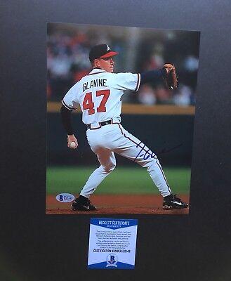 Tom Glavine autographed signed 8x10 photo Beckett BAS COA Atlanta Braves WS -