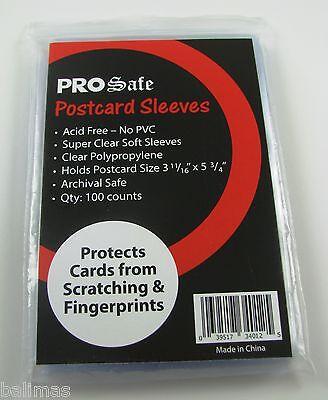 "1000 PRO SAFE Premium Postcard Sleeves 3 11/16"" x 5 3/4"" Wholesale Lot-FREE S&H!"