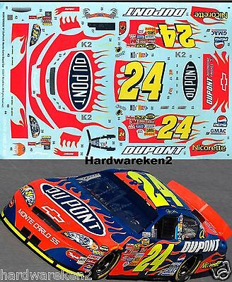 NASCAR DECAL #24 DuPONT FLAMES 2007 MONTE CARLO JEFF GORDON 1/24