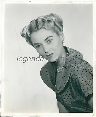 1950 Women's Hairstyle Woman with Styled Hair Original News Service Photo - 1950 Women's Hairstyles