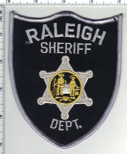 Raleigh Sheriff Dept. (West Virginia) 4th Issue Gold Bullion Shoulder Patch