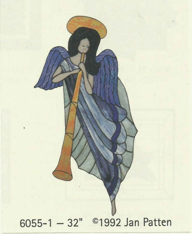 """Stained Glass Pattern ANGEL  32"""" The Carousel Collection #6055-1 Angel Pattern"""