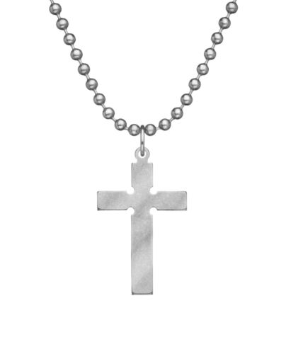 "MILITARY ISSUEl EPISCOPAL CROSS USA MADE JEWELRY WITH 24"" CHAIN"