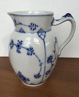 Royal Copenhagen Blue Fluted Milk Pitcher 459 12 oz