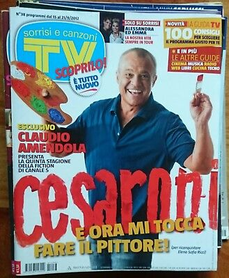 TV SORRISI E CANZONI 2012 n°38 Belen De Sio Gozzi Amendola Alien Carla Gozzi usato  Roma