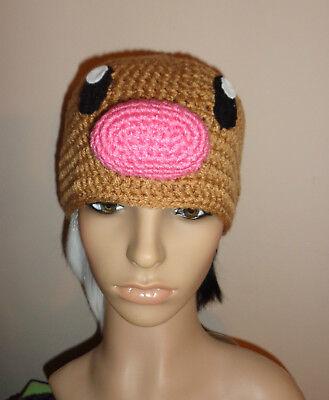 DIGLETT hat crochet knit cosplay comic con anime character pokemon  Dugtrio