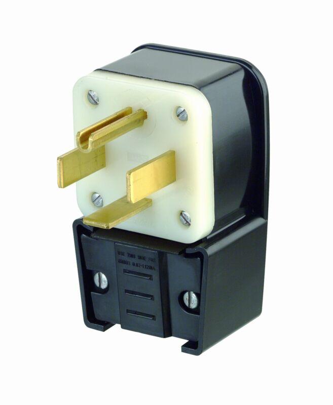 Leviton 9462-P 60 Amp, 125/250 Volt, Straight Blade, Plug, Industrial Grade