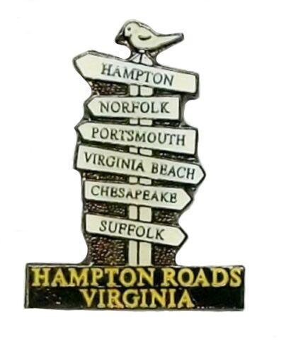 Hampton Roads Virginia Road Sign Hat Tac or Lapel Pin