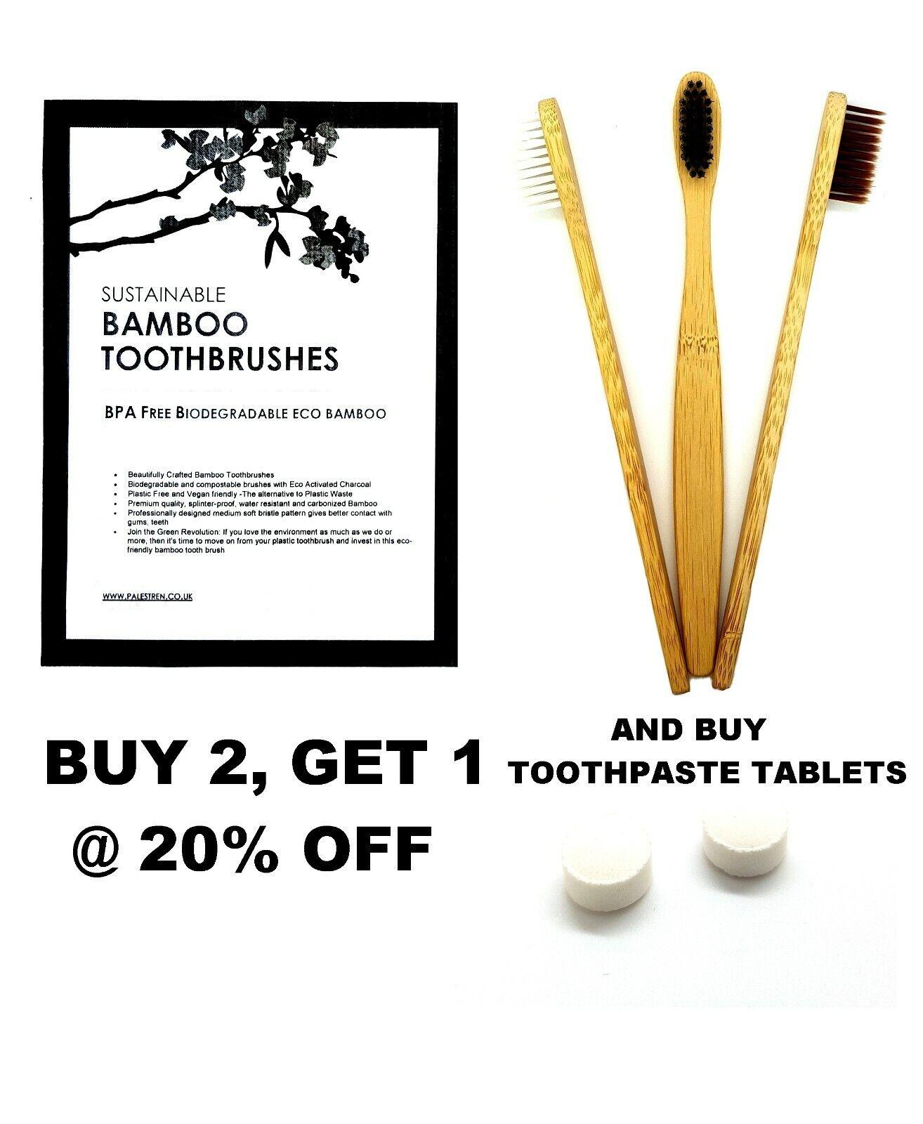 Natur Bambus Zahnbürste Vegan Umweltfreundlich Bpa-Frei Biologisch Zahnbürsten