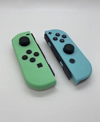 Nintendo Switch Customized Joycons Animal Crossing Theme Joy-Con Left + Right