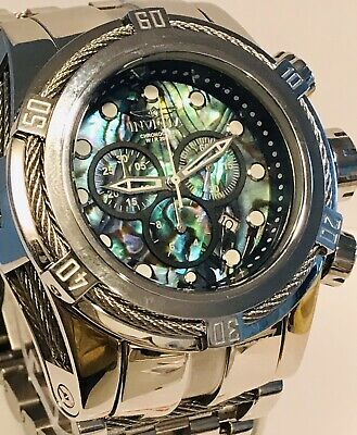 Invicta Bolt Zeus Abalone Swiss Ronda Chrono 53mm Luminous Quartz Mens Watch